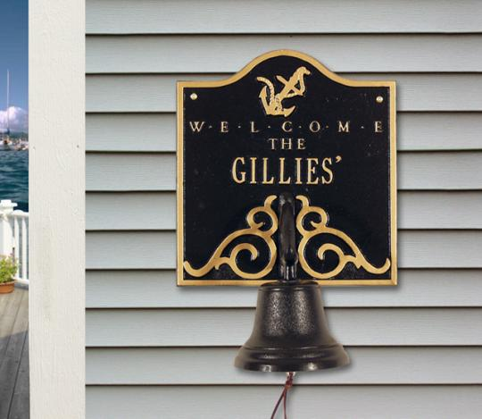 Personalized Welcome Anchor Bell - Wall Plaque