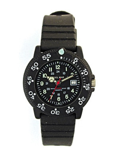 Women's  200 Meter Water Resistant Dive Watch Black Dial
