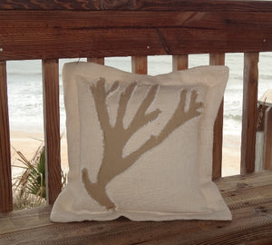 Kahki Coral Sea Pillow