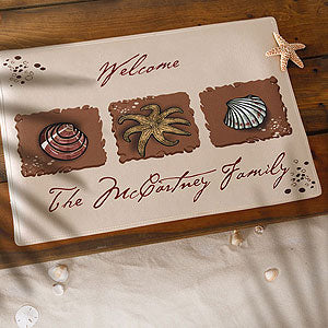 Personalized Sea Shore Greetings Doormat