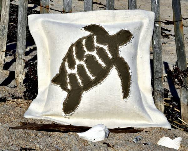 Hawksbill Turtle Sea Pillow-Nautical Decor and Gifts