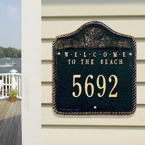 Beach Welcome Plaque