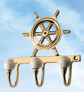 Wheel Hanger-Nautical Wall Hooks for Coats and Clothing..View All-Nautical Decor and Gifts