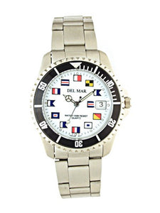 Classic Nautical Flag Face Watch for Men and Women