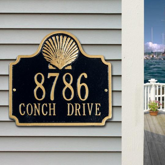 Conch Wall Address Plaque-Nautical Decor and Gifts