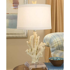 White Coral Lamp on Acrylic Base