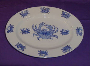 Oval Crab Platter-Nautical and Beach Dinnerware-Nautical Decor and Gifts