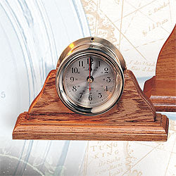 "4 1/2"" Clock w/Base-Desk Top Clocks with Nautical Theme-Nautical Decor and Gifts"