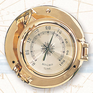 "5 1/2"" Port Hole Hygrometer-Nautical Decor and Gifts"