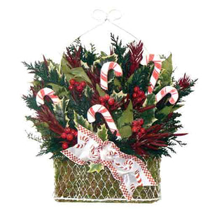 Candy Cane Holiday Basket-Nautical Decor and Gifts