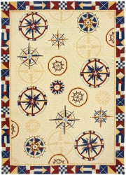 Compass Area Rug-Nautical Decor and Gifts