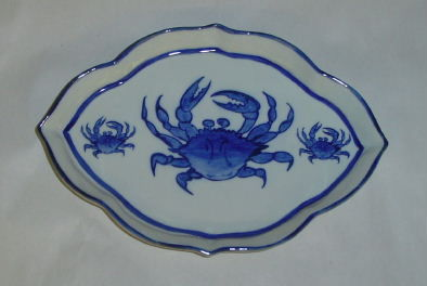 Crab or Shell Diamond Shape Dish