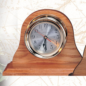 Nautical Desktop Clocks w/Base-Desk Top Clocks with Nautical Theme-Nautical Decor and Gifts