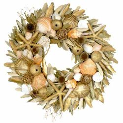 "Nautical Gold 18"" Wreath"