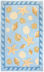 Sanibel Cotton Hooked Rug