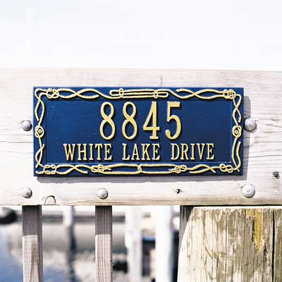 Sailor's Knot Address Plaque - Two Line