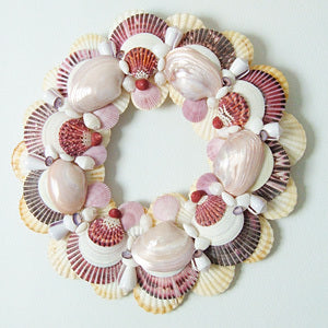 Ocean Violet Seashell Wreath-Nautical Decor and Gifts