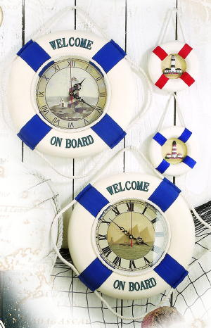 Nautical Life Ring Clocks