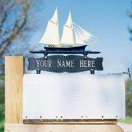 Schooner Mailbox Sign Ornament