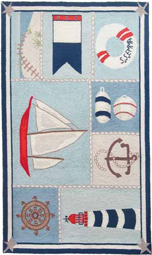 Ship Shape Beach House Rug
