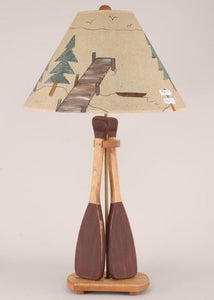 Two Paddle Table Lamp