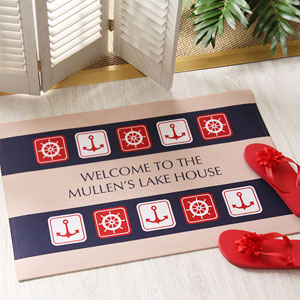Nautical Personalized Doormat