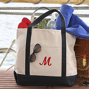 Deluxe Weekender Embroidered Tote - Out of Stock-Totes and Sailor Bags-Nautical Decor and Gifts