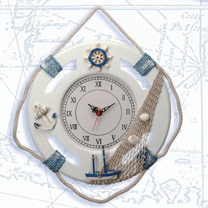 "12.5"" Life Ring Clock-Life Ring Nautical Clocks-Nautical Decor and Gifts"