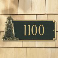 Nautical Lighthouse Address Plaque