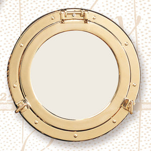 Polished Brass Porthole Mirrors