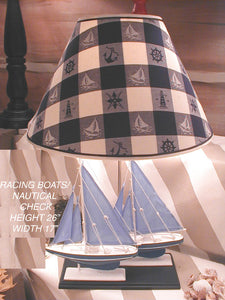 Racing Sailboats Lamp