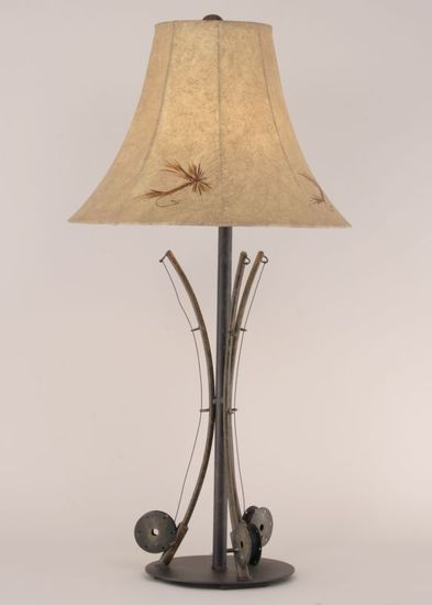 Three Fishing Pole Table Lamp