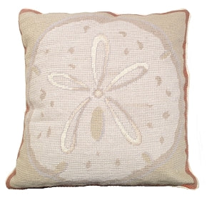 Sand Dollar Pillow-Nautical Decor and Gifts