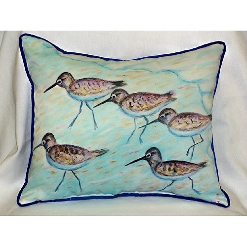 Sandpipers Outdoor Pillow-Nautical Decor and Gifts
