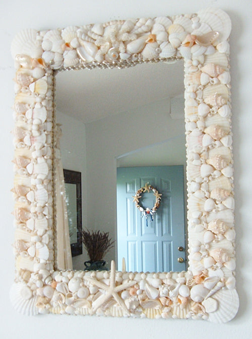 Sea Princess-Large Seashell Decorated Mirror