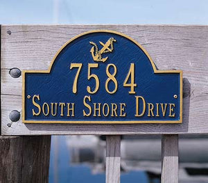 Personalized Anchor Arch Address Marker-Nautical Decor and Gifts