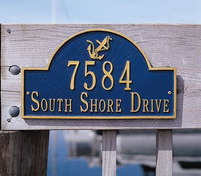 Personalized Anchor Arch Address Marker