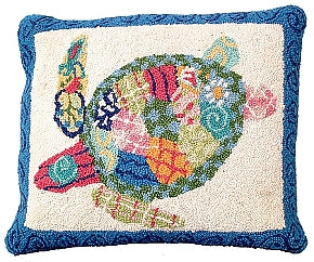 Sea Turtle Pillow-Nautical Decor and Gifts
