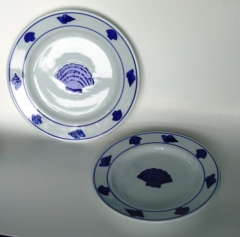 Shell Dinner Plates - Set of Four