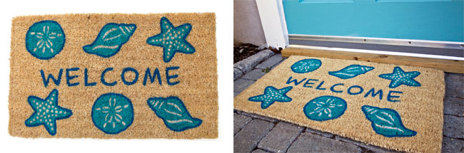 Shells Welcome Door Mat