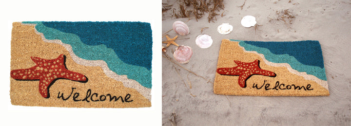 Starfish Welcome Mat-Nautical Decor and Gifts