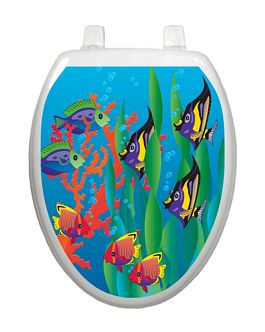 Under the Sea Toilet Lid-Nautical Decor and Gifts