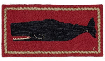 Black Whale on Red 2 x 4