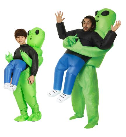 Inflatable Costume green alien