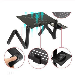 Adjustable table for Laptop with fan