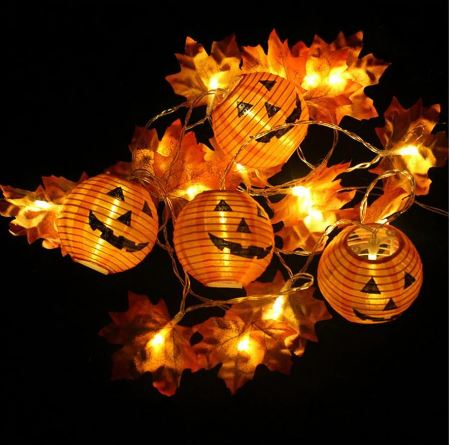 LED maple leaf pumpkin string