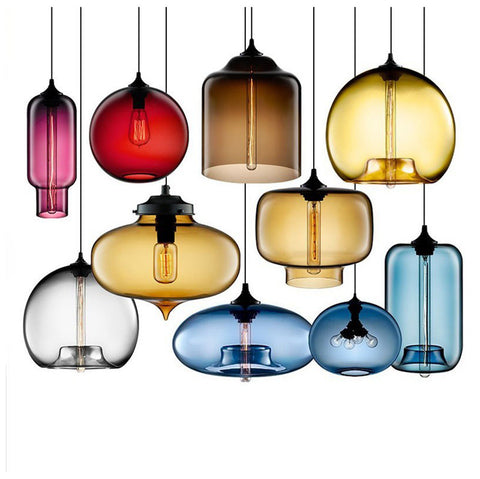 Colorful Oriental Glass Pendant Lights - BLVCKBEAUTY