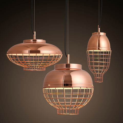 Copper Cage Pendant Lights - BLVCKBEAUTY