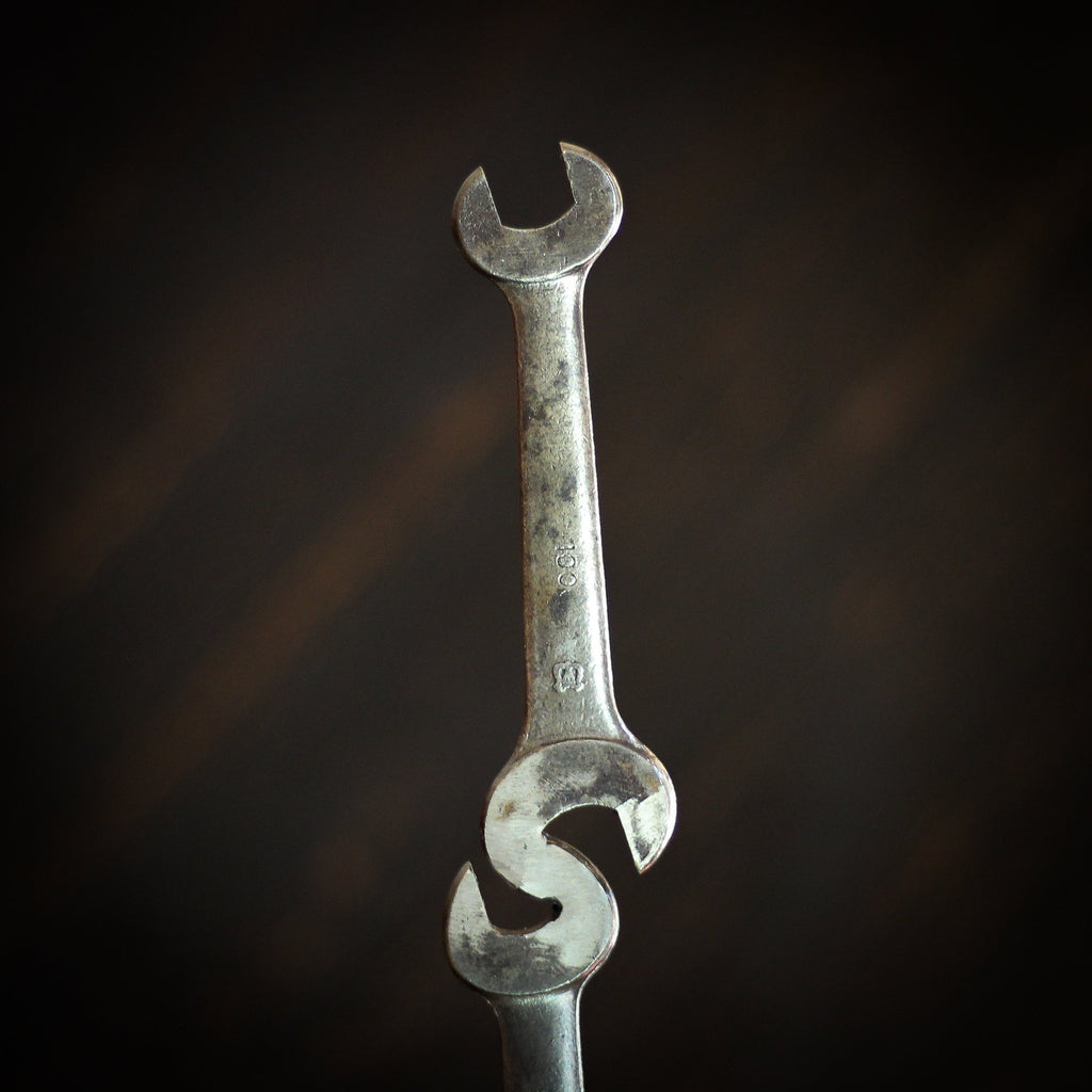 Beer Tap Handle: Vintage Double Wrench Beer Pull