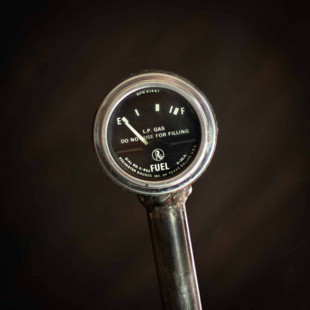 Beer Tap Handle: Vintage Propane Fuel Gauge